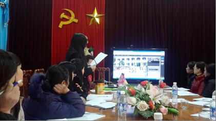 Đ/c Nguyễn Thị Hương - Phó Trưởng phòng đọc báo cáo