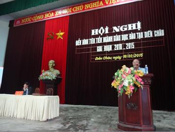 Hội nghị điển hình tiên tiến ngành Giáo dục huyện Diễn Châu giai đoạn 2010-2015