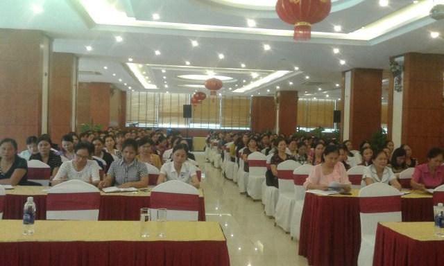 Hội nghị triển khai nhiệm vụ năm học 2015-2016 Giáo dục mầm non huyện Diễn Châu
