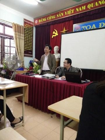 Tổ chức sinh hoạt chuyên môn cụm trường môn Tin học cấp Tiểu học