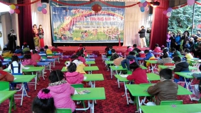 """Hội thi """"Bé vui khỏe, thông minh, nhanh nhẹn"""" cấp cụm Giáo dục mầm non huyện Diễn Châu"""