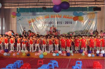 """Hội thi """"Bé khỏe măng non"""" cấp huyện năm học 2015-2016"""